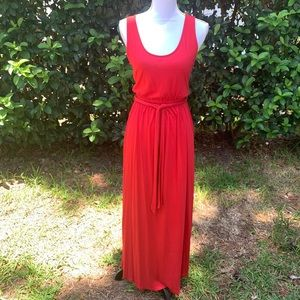 Maxi/long red sleeveless dress size S